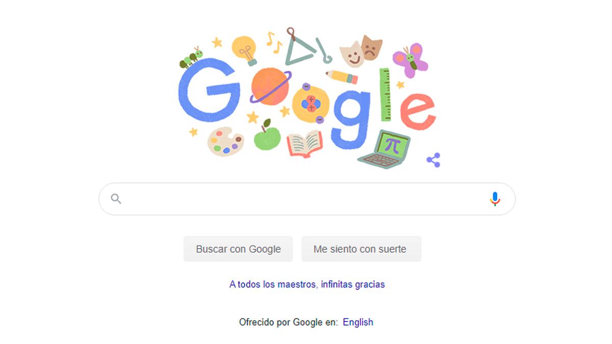 Google celebra a los maestros con bonito doodle