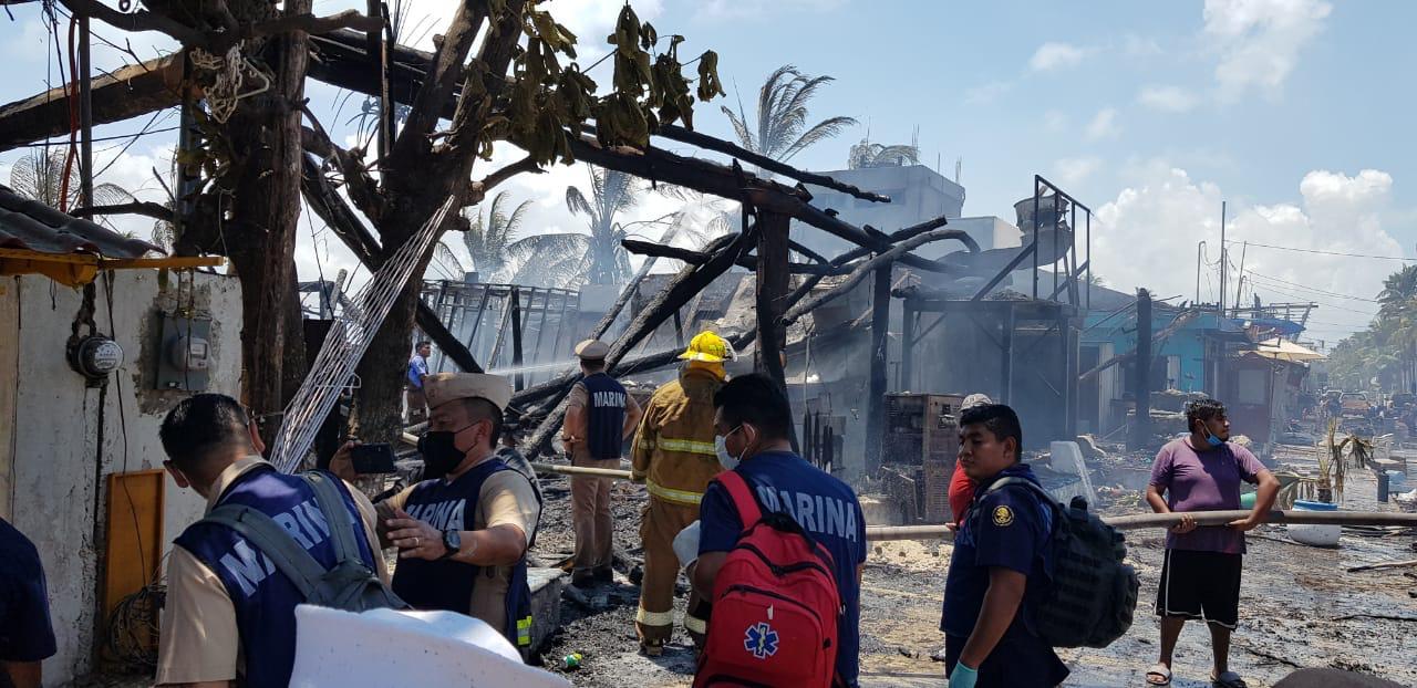 La Secretaría de Marina-Armada de México brinda apoyo durante sofocación de  incendio en Isla Mujeres, Quintana Roo – Mestizo News