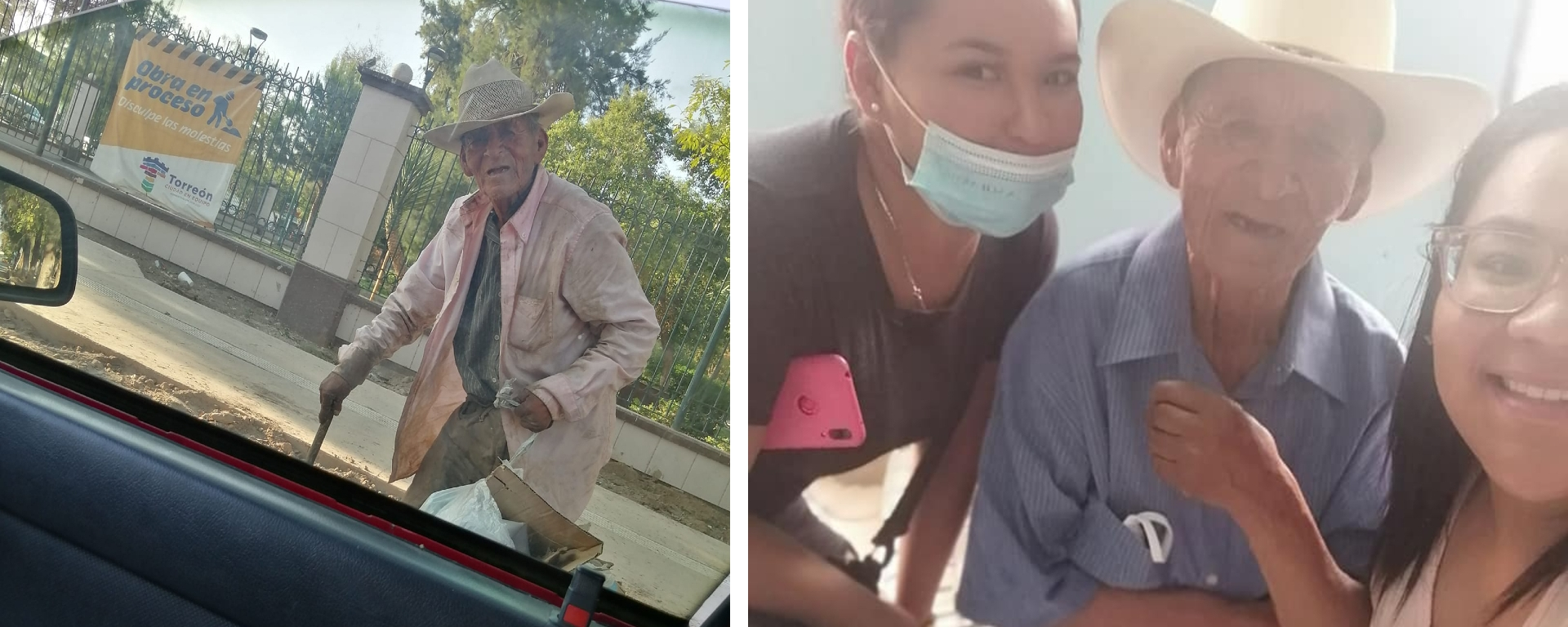 VIRAL: Familia adopta a abuelito de 108 años que vivía en la calle.